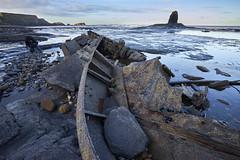 Wreck of the Admiral Von Tromp (tj.blackwell) Tags: ocean uk sea england abandoned mystery coast fishing rust yorkshire rocky vessel shipwreck northsea whitby beached wreck wreckage trawler saltwickbay blacknab admiralvontromp ilce7m2 sonya7ii1635mmf4zeissfezalens
