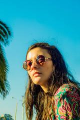 """Janis Joplin (""""Less is more"""".) Tags: portrait sky woman sun love colors smile face happy 50mm lights glasses model retrato sony happiness modelo cielo hippie sonrisa janis inlove joplin janisjoplin mymodel sonyalpha minolta50mm soplin sonystas sonyalpha58 sonystaschile"""