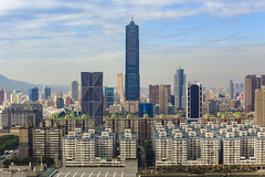 Kaohsiung Cityscape (Yi-Liang Lai) Tags: city urban building architecture canon buildings cityscape taiwan kaohsiung    70300mm    cityskyline 6d 70300  85   kaohsiungcity   canon6d