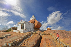 """A CALL AWAY FROM HEAVEN"" (GOPAN G. NAIR [ GOPS Creativ ]) Tags: india tourism rock clouds temple photography tour hill karnataka heavenly hampi gops gopan malyavanta gopsorg gopangnair gopsphotography"