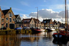 Downtown Monnickendam (Boudewijn Vermeulen) Tags: houses water clouds boats town fishing scenery harbour waterland monnickendam pittoresque