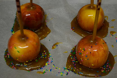 Caramel Apples (Vegan) (Vegan Butterfly) Tags: food halloween fruit dessert vegan yummy candy sweet tasty delicious caramel sprinkles vegetarian apples