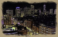 Boston at Night (Rusty Russ) Tags: light people color building boston composite night photoshop hospital magazine t ma creativity photo yahoo blog google paint flickr pin all general image artistic massachusetts creative young photographers commons manipulation brush blogs national montage frame saturation getty mass newsroom filters paysage hue yawkey flic winners geographic bing stylized wiki facebook wikimedia openuniversity stumbleupon daum worldskills ilri painttexture reddit twitter photoscape tumblr flickriver pixelpeeper fiveprime flickrhivemind pinterest alpilo oceannetworks comflight stockpainterly