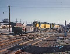 CNW1569-620415 Waukegan, IL GP7 built 8-52 and rebuilt as GP7R 4279 (railfan 44) Tags: chicago northwestern