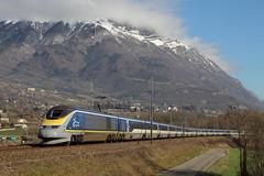 L'E300 en montagne (Maxime Espinoza) Tags: saint train eurostar maurice londres e300 savoie tgv bourg tmst
