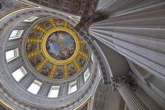 Dme des Invalides, Paris, France (Thierry Hoppe) Tags: paris france architecture roman interior interieur pillar dome colonne romaine dmedesinvalides