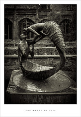 The Water of Life (Parallax Corporation) Tags: blackandwhite sculpture bronze courtyard chester duotone chestercathedral thewateroflife