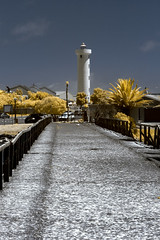 IMG_1621s (francois f swanepoel) Tags: wood sea lighthouse water lunch concrete bridges perspectives capetown infrared restoration brug naval atlanticocean guano milnerton beton 1960 westerncape woodbridgeisland atlantieseoseaan ligtoring