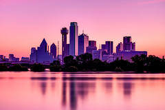 Dallas Skyline at Sunrise with Reflections (daltonaikenphotography) Tags: morning pink trees sunset sky urban usa tree water architecture sunrise reflections landscape photography dawn landscapes dallas downtown industrial texas waterfront purple unitedstatesofamerica earlymorning dfw tcu smu unt urbanlandscape photooftheday northtexas downtowndallas urbanscene dallastexas dallasskyline texassunset texassunrise landscapephoto texasmorning dallasphotography northtexasphotography fortworthphotography dfwphotography dallasbaptist daltonaiken dallasskylinedusk daltonaikenphotography dallasskylinesunrise