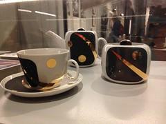 Commemorative cosmic tea set (Inkysloth) Tags: london industry museum technology space astronaut science cosmos sciencemuseum cosmonaut spacescience