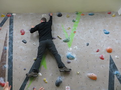 bouldering victorious (Mr Kiki) Tags: birthday white london wall spider indoor climbing bouldering