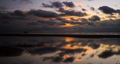 Sunset walk (Graham - bell) Tags: sunset sea sky seascape west clouds reflections island bay coast shore cumbria walney earnse
