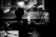 outsider inside (everydayobject) Tags: street leica blackandwhite bw irish bar photography singapore conversation monochrom