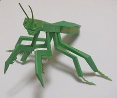 Animal Paper Model - Mantis Ver.4 Free Template Download (PapercraftSquare) Tags: mantis animalpapermodel