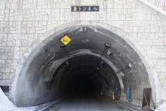 Kama Tunnel (peaceful-jp-scenery (busy)) Tags: winter alps japan landscape sony cybershot 日本 matsumoto 冬 kamikochi 松本 長野 carlzeiss hotaka 上高地 大正池 穂高連峰 laketaisyoike dscrx100 28100mmf1849