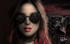 Atelier2 Mulher mistrio (Atelier 2) Tags: cidade mulher vermelho noite culos misteriosa atelier2