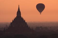 Sulamani temple (deus77) Tags: hot sunrise landscape temple view burma air balloon myanmar burmese bagan sulamani