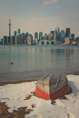 Can't Get Enough of That View! (A Great Capture) Tags: city winter urban lake snow toronto ontario canada cold beach water birds skyline buildings landscape lights boat sand downtown photographer cntower waterfront upsidedown outdoor snowy wildlife bottom ducks canadian shore rowboat to lakeontario flipped on agc wardsisland 2016 ald tourcn thesix ash2276 adjm bottomofboat lhiver ashleylduffus wwwagreatcapturecom agreatcapture