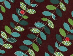 Lovely Apple Vine Green in Brown - EK-QS38153F (ikoplus) Tags: brown green apple fruit leaf sewing vine climbing fabric commercial kawaii lovely suppliers appler ikoplusfabric ekqs38153f