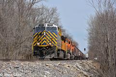 Tiger strips on a Gevo. (Machme92) Tags: railroad clouds rail row bn rails ge railfan bnsf railroads citi railroading railfanning gevo railfans nikond7200 burligrton