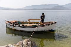 Good riddance! (Matthias58) Tags: people man turkey landscape boat places equipment vehicle ferryman naturepark tr ferryboat fishermanboat mugla westernturkey canoneos6d canonef2470mmf28liiusm lakebafanaturepark bafagölütabiatparkı