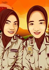 polwan vector (zarra.nadilla) Tags: indonesia design comic order cartoon creative caricature creature vector ilustrator collor vexel nadilla vectorxvexel