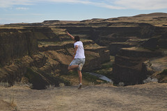 The leap (jrountree333) Tags: travel river landscape washington jump nikon friend canyon falls plains amateur palouse