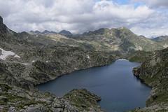 Lac Glacat z przełęczy Glacat