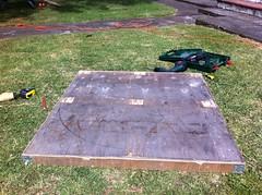 Marking out Moon (Real Deal) Tags: moon artwork native timber villa maori lunar plywood