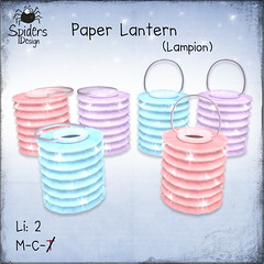 Paper Lantern (Spinnetje Jewell) Tags: summer spring outdoor secondlife lantern decor paperlantern lampion spidersdesign