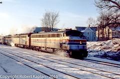 224, Essex Jcn., VT, 12-1976 (Rkap10) Tags: railroad other vermont places amtrak albums locomotives fl9 railroadslidescans