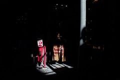 looking over- Questa  la mia citt (Via S.Gregorio Armeno) (michele liberti) Tags: light shadow red italy black streetphotography number cherub napoli naples centrostorico cherubino streetcolors historiccentre decumani questalamiacitt