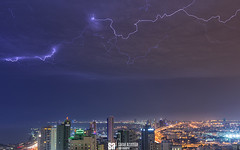 Kuwait - Passing Spider Strikes (Sarah Al-Sayegh Photography   www.salsayegh.com) Tags: nightphotography night clouds canon photography cityscape lightning kuwait strikes canoneos5dmarkiii sarahhalsayeghphotography infosalsayeghcom