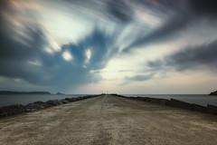 Tide of clouds... | Marea de nubes... (maf.mendoza) Tags: longexposure sea sky espaa cloud clouds port puerto mar spain nikon tide asturias seawall tokina cielo nubes nube avils hoya marea largaexposicin espign sanjuandenieva radeavils atx116prodx nikond7200 prond1000