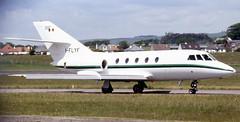 I-FLYF. Dassault Falcon 20 (Ayronautica) Tags: june aviation scanned 1989 prestwick pik bizjet egpk dassaultfalcon20 execjet iflyf ayronautica