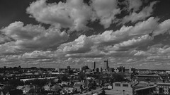 O! (◀︎Electric Funeral▶︎) Tags: blackandwhite monochrome skyline architecture clouds digital canon buildings photography midwest nebraska downtown 5d omaha councilbluffs