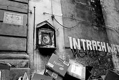 Palermo (RoryO'Bryen) Tags: palermo trash street blackandwhite noiretblanc biancoenero streetphotography roryobryen rangefinder copyrightroryobryen leicamp 35mmsummiluxmasph leicasummiluxm35mmf14asph kodaktrix iso800 selfdeveloped rodinal