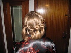 Knotted Bun Hairstyle Updo: DIY (Photalistica) Tags: hair asian diy tail goth formal inspired hairdo homecoming pony prom buns casual easy weddings knots hairstyles bun semiformal updo knotted updos
