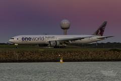 A7-BAG QR B77W 34L YSSY-8053 (A u s s i e P o m m) Tags: australia mascot newsouthwales boeing qr qatar b77w