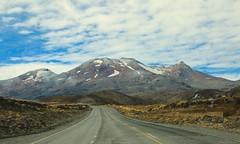 The Mighty Mount Rupaheau (Psychic Insights) Tags: road autumn newzealand summer sky plants brown mountain ski landscape outdoor hill mountainpeak