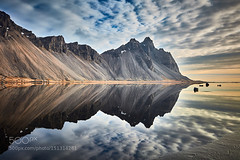 Vestrahorn Reflections (Justin S Reid) Tags: cloud mountain mountains reflection art beach nature water canon mirror iceland high sand outdoor fine wide peak right southern lee stuff nordic portfolio really filters gitzo vestrahorn 500px stockness ifttt dierjscreensaver