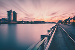 Homecoming (philippdase) Tags: longexposure sunset sky urban berlin clouds cityscape spree leefilters nd10 nikond7100 sigma1835mm18 philippdase