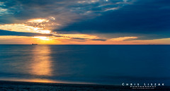 The Lone Ship (Chris Liszak Photography) Tags: sunset lake ontario canada color colour wow boat photo ship ships sharp stunning lakeontario tanker nikond3200 chrisliszakphotography