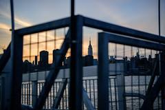New York City Skyline from Brooklyn (mikewaterhouse) Tags: city nyc newyorkcity newyork skyline brooklyn manhattan midtown esb empirestatebuilding