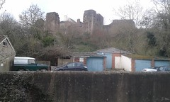 Monmouth Castle from Nailer's Lane (Dave Mytton) Tags: monmouth monmouthcastle