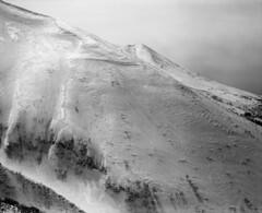 The west ridge (threepinner) Tags: snow japan spring hokkaido sunny   fujica tmax100 hokkaidou 80mm f35  selfdeveloped northernjapan  ebcfujinon mountainsnaps gf670  finedol mtbieifuji mtoputateshike  taisetsunationalpark