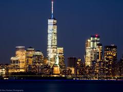 Statue of Liberty & Freedom Tower, NYC (ravi_pardesi) Tags: nyc newyork night liberty freedom downtown statueofliberty colossal longshutter awesomeness freedomtower primeshot