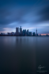 Shanghai (Lord Shen) Tags: china city sunset urban vertical river landscape photography asia shanghai outdoor landmark pudong lujiazui