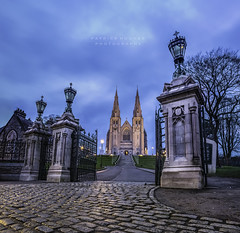 St. Patrick's Cathedral - Armagh City, Ireland (Patrick Hughes Phototography) Tags: city longexposure ireland irish church st canon landscape eos cityscape cathedral iii scenic cathedrals northernireland 5d bluehour patricks rc mk coi ulster armagh patrickhughes f28liiusm