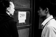 Yin-Yang (Riccardo Villani) Tags: street door people blackandwhite london contrast streetphotography photographers gr yinyang ricoh 299 facethestreet